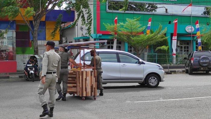 Tata Kembali Wajah Kota Banda Aceh, Satpol PP Tertibkan PKL, Ini Lima Lokasi yang 'Dibersihkan'
