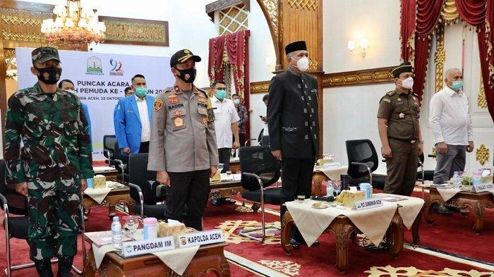 Plt Gubernur Aceh Ikuti Puncak Peringatan Sumpah Pemuda 2020 Secara Virtual
