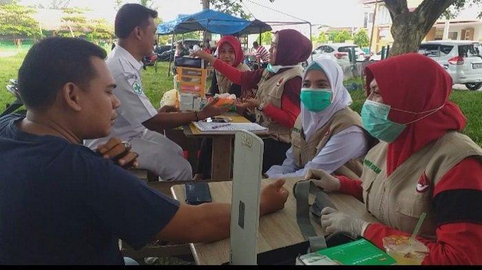 PMI Jeunieb Gelar Donor Darah, Terkumpul Darah 35 Kantong