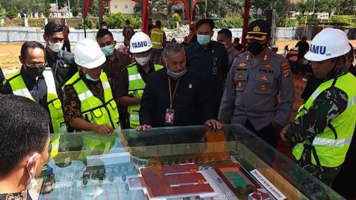 Ketua PT/Tipikor Banda Aceh dan Bupati Abdya Letak Batu Pertama Pembangunan Kantor PN Blangpidie