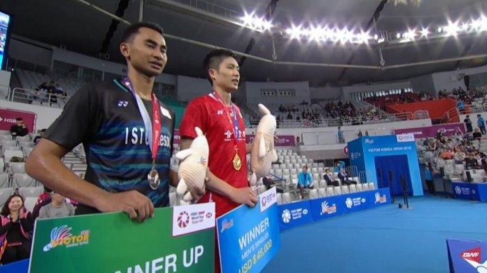 Hasil Final Badminton Korea Open 2018 - Tommy Sugiarto Kalah dari Chou Tien Chen