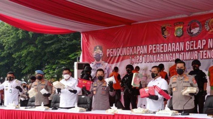 Polda Metro Jaya Ungkap Kasus Narkoba 1,1 Ton Jaringan Timur Tengah, 7 Orang Ditangkap