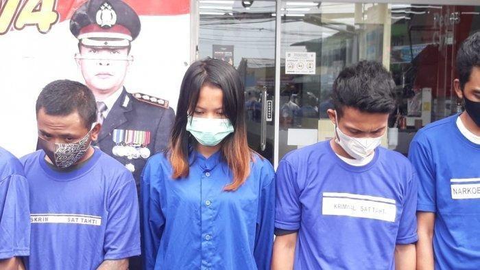 Suami Istri Ditangkap Usai Bobol Toko Bangunan, 3 Penadah Hasil Curian Ikut Diamankan