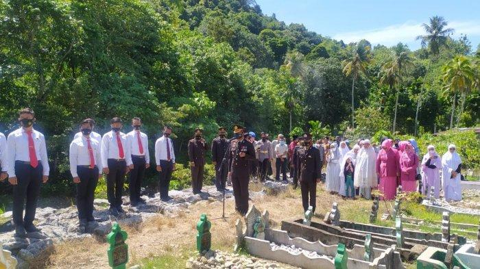 Polisi Meninggal Kecelakaan di Bener Meriah Dikebumikan Secara Militer di Aceh Selatan