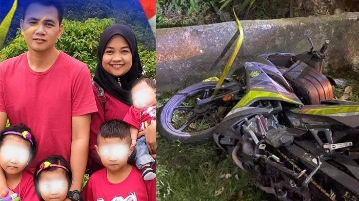 Polisi Meninggal Usai Kecelakaan sampai Masuk Parit, Tinggalkan Istri dan 4 Anak Termasuk Bayi