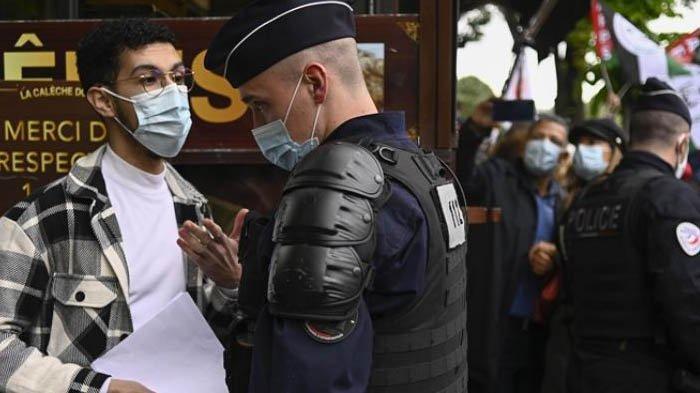 Aksi Dukung Palestina Dibubarkan Polisi Prancis, Tindakan Tegas Sampai Demonstran Bubarkan Diri