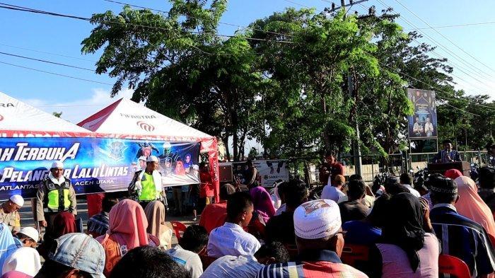Gunakan Jasa Ustaz, Polres Aceh Utara Cermahi Pelanggar Lalu Lintas di Jalanan