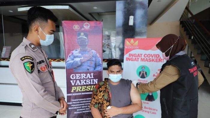Polres Lhokseumawe Buka Gerai Vaksin Presisi di Hotel