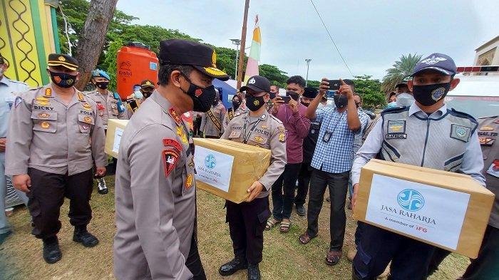 Kapolda Aceh Juga Tinjau Pos Pelayanan Lebaran di Lhokseumawe, Ajak Warga tak Mudik