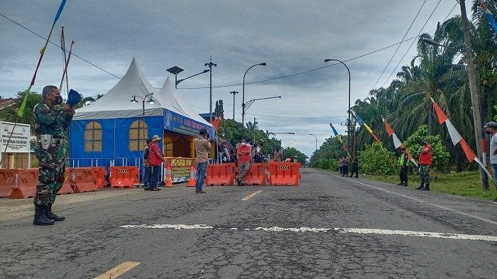 Dampak Larangan Mudik, Puluhan Penumpang Bus Tertahan di Perbatasan Aceh Tamiang