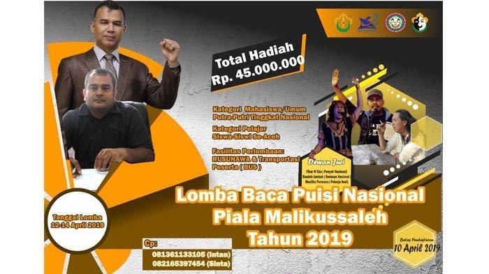Lomba Baca Puisi Piala Malikussaleh Sediakan Hadiah Rp 45 Juta