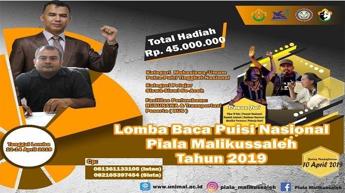 Peserta dari Sumatera Hingga Papua Meriahkan Lomba Baca Puisi Piala Malikussaleh