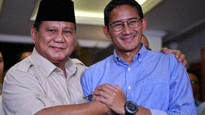 Sandiaga Uno dan Prabowo Rival Jokowi yang Kalah Pilpres, Kini Jadi Menteri Pembantu Presiden