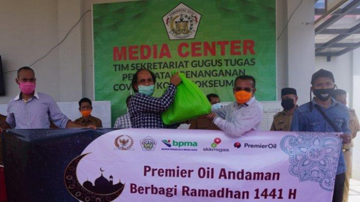 SKK Migas, BPMA dan Premier Oil Andaman Salurkan Bantuan untuk Masyarakat Terdampak Covid-19