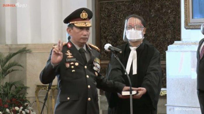 BREAKING NEWS: Presiden Jokowi Resmi Melantik Jenderal Listyo Sigit Prabowo Jadi Kapolri