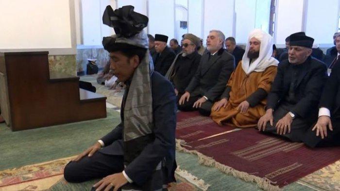 Ketika Jokowi Jadi Imam Shalat untuk Presiden Afghanistan, Lihat Videonya di Sini