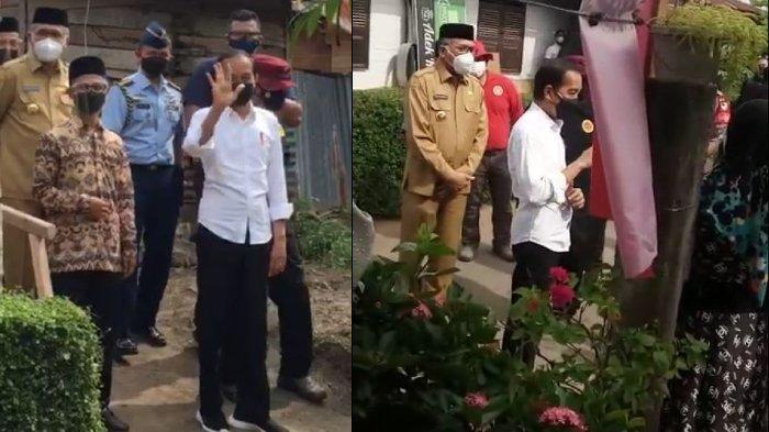 Presiden Jokowi Blusukan dan Sapa Masyarakat Lambro Bileu, Warga: Terima Kasih Sudah Datang Pak