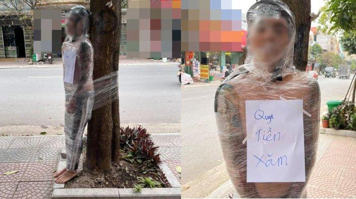 Dikira Lelucon, Tubuh Pria Ini Dibungkus Plastik Wrap dan Diikat di Pohon, Ternyata Karena Ini