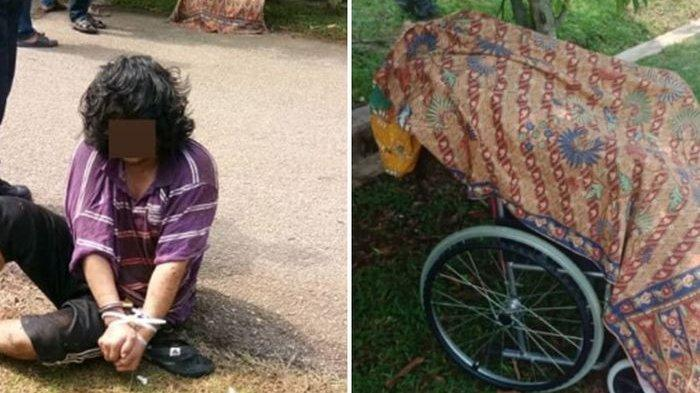 Usai Bunuh Ibu Kandung, Pria Ini Dorong Mayatnya Pakai Kursi Roda Ke Warung, Warga Ketakutan