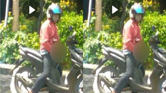 VIRAL Pria Naik Sepeda Motor Lakukan Onani di Pinggir Jalan, Polisi Duga Pelaku Alami Kelainan