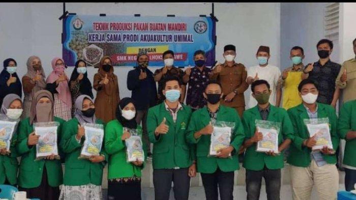 Prodi Akuakultur Unimal dan SMKN 6 Lhokseumawe Produksi Pakan Ikan dari Limbah Lokal