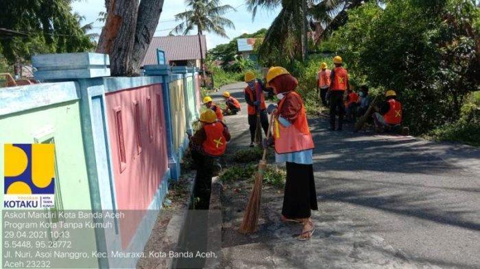 Kementerian PUPR Bantu Masyarakat Melalui Program Padat Karya Tunai, Banda Aceh di 9 Gampong