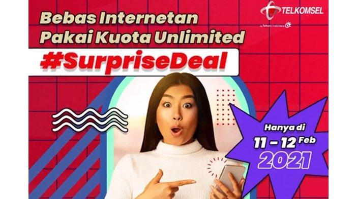 Hari Ini Terakhir,SurpriseDeal Unlimited Telkomsel Mulai Rp 100 Rb,Bisa Gaming Hingga Streaming Film