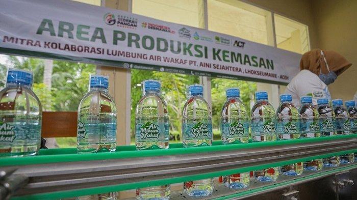 ACT Produksi Air Minum Wakaf di Lhokseumawe untuk Dibagikan Gratis
