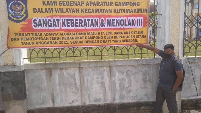 Puluhan Aparatur Desa Protes Draf Perbup Aceh Utara tentang Dana Gampong, tak Ada Lagi Dana Yatim