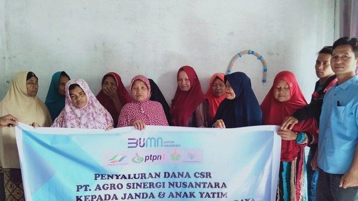 PT ASN Salurkan Bantuan Dana CSR untuk Janda dan Anak Yatim Korban Konflik Aceh