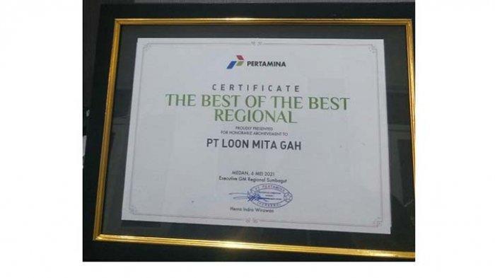 PT Loonmita Gah Raih Penghargaan The Best of The Best Regional dari PT Pertamina (Persero)