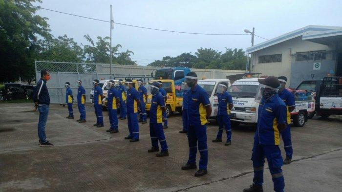 Apel, rutinitas yang dilaksanakan setiap pagi oleh seluruh karyawan PT Loonmita Gas sebelum melaksanakan aktivitas
