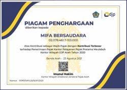 PT Mifa Kembali Menjadi Wajib Pajak Terbesar Di Wilayah Barat Selatan Aceh