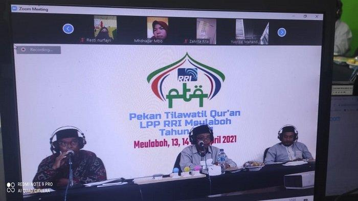 Qari-qariah Terbaik Aceh Ikuti PTQ Secara Virtual di RRI Meulaboh
