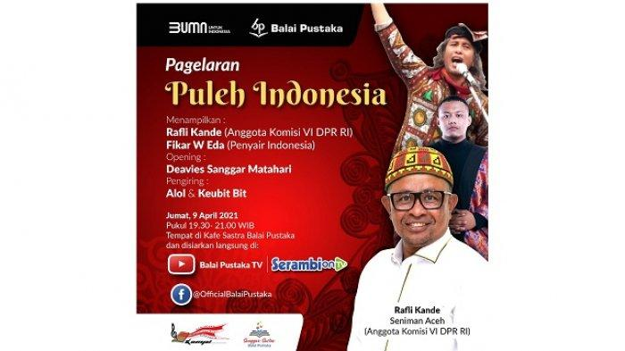 Rafli Doakan Kesembuhan Indonesia Lewat Lagu di Balai Pustaka