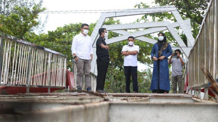 Heboh Jembatan Rusak Setelah 3 Bulan Diresmikan, Dewan Kota Tinjau Kawasan Ulee Lheue Park