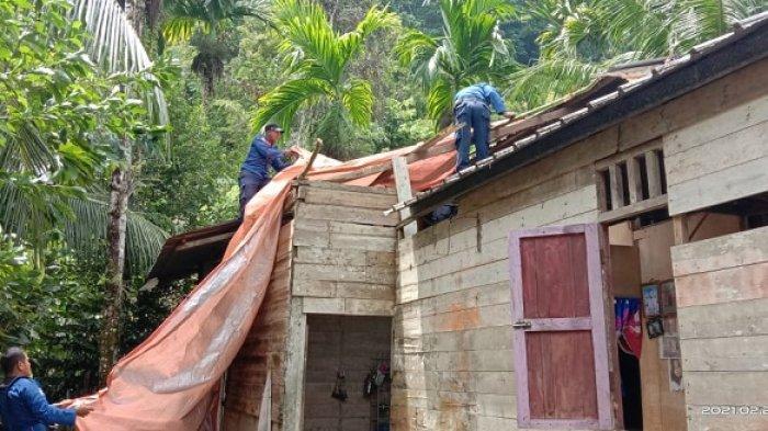 Puting Beliung Rusak Tiga Rumah di Simeulue Timur
