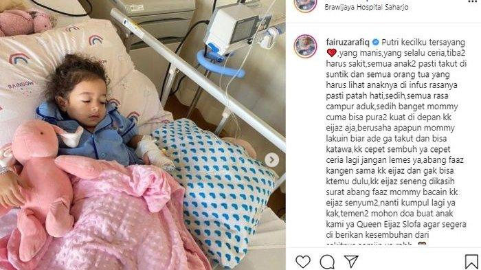Anak Fairuz dan Sonny Septian dirawat di rumah sakit.