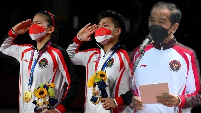 Raih Emas Olimpiade Tokyo 2020, Presiden Jokowi Sampaikan Terima Kasih kepada Greysia/Apriyani
