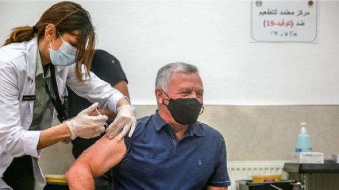 Raja Yordania Abdullah dan Putra Mahkota Hussein Mendapatkan Suntikan Vaksin Covid-19