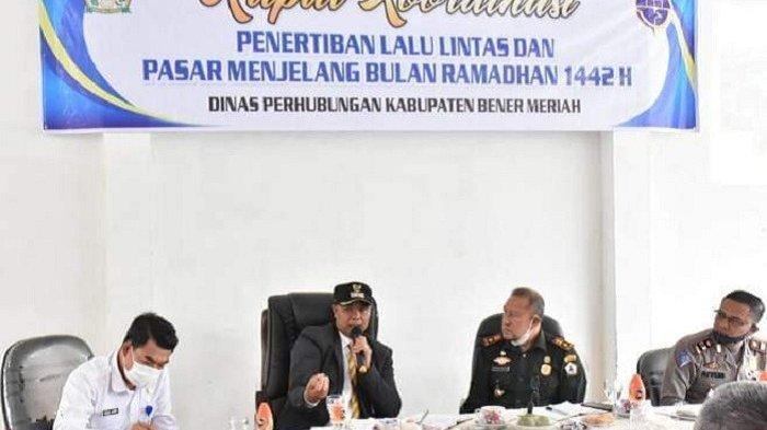 Wakil Bupati Dailami Pimpin Rakor Penertiban Lalu Lintas dan Pasar Takjil Jelang Ramadhan 1442 H