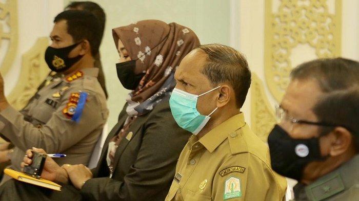 Asisten I Ikut Rakor Keamanan dan Penegakan Hukum Jelang Ramadhan dan Idul Fitri 1442 H