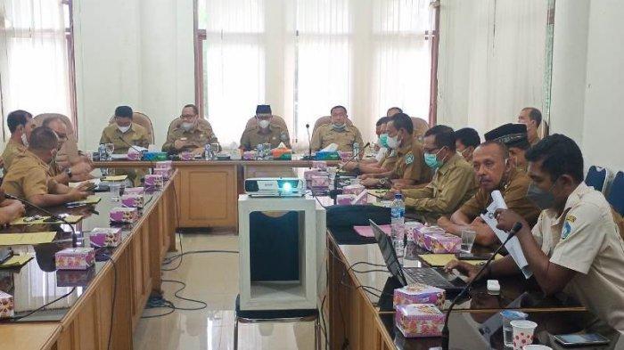 Pemkab Aceh Selatan Rapat Evaluasi Realisasi PAD Triwulan III Tahun 2021, Ini Penegasan Bupati