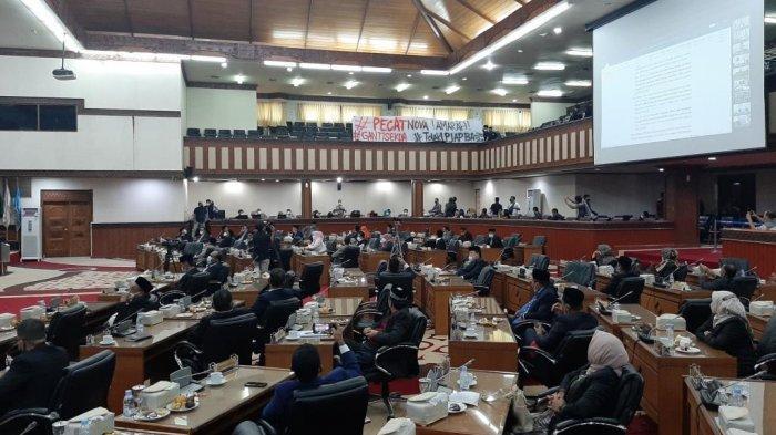 Tok! DPRA Tolak Pertanggungjawaban APBA 2020