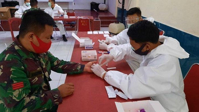 Kodim Aceh Utara Rapid Test Ratusan Prajurit Selama 4 Hari, Ikhtiar Cegah Penularan Virus Corona