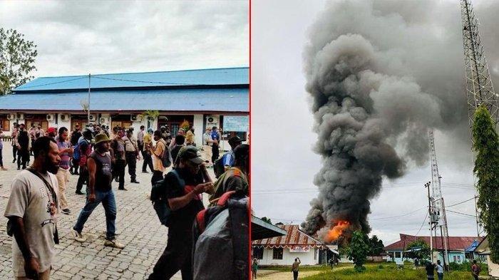 Kecewa Pengumuman Hasil CPNS, Ratusan Massa Ngamuk di Papua, Serang Polsek dan Bakar Kantor Dinas