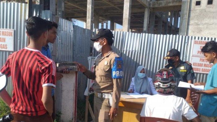 85 Warga Tak Pakai Masker Terjaring Operasi Yustisi Covid-19 di Depan Masjid Peusangan, Ini Sanksi