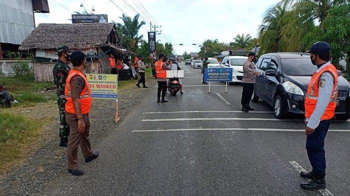 Satgas Covid-19 di Nagan Raya Kembali Razia Masker, Pelanggar Diberikan Sanksi Sapu Jalan