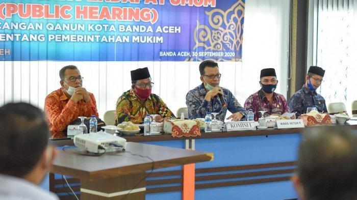 DPRK Banda Aceh Himpun Masukan Masyarakat Terkait Raqan Mukim, Dalam RDPU