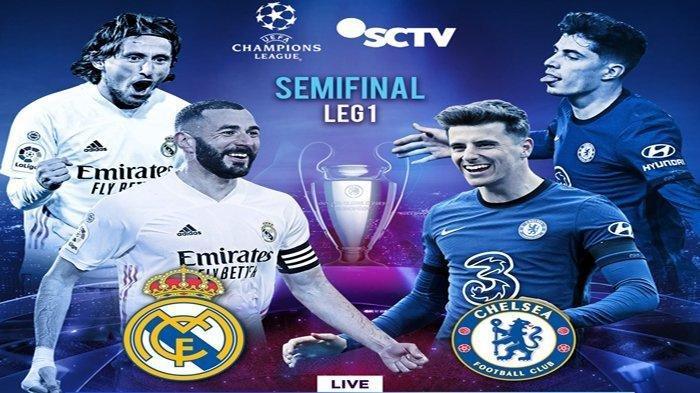 Live Streaming Real Madrid Vs Chelsea di Liga Champions Pukul 02.00 WIB, Ujian Sang Raja Eropa